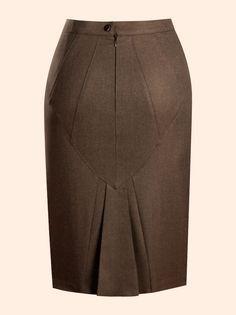 маррон юбка Faldas Bonitas Moda Faldas Faldas Elegantes