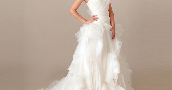 2012 Fall Strapless Organza bridal gown with Natural waist | See more