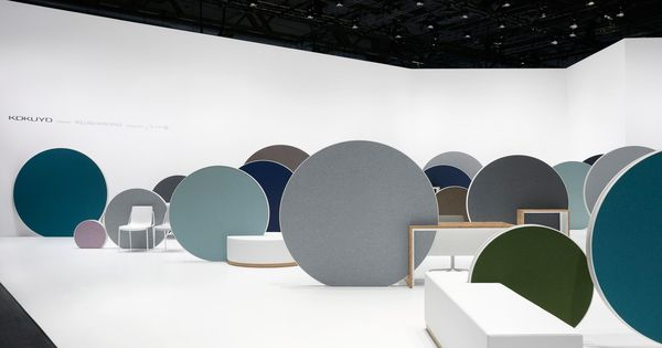 nendo designs rolling office partitions to aid creativity
