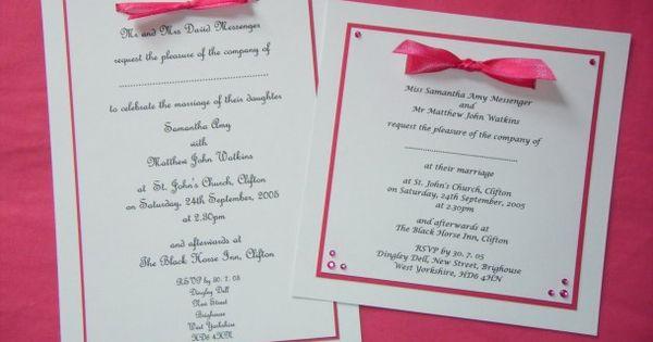 handmade wedding invitations - Google Search Scrapbook pages - sample wedding guest list