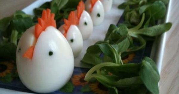 Simple Hard Boiled Chicken Eggs Slice A Carrot Comb