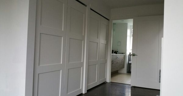 Three Panel Shaker Closet Doors 10 Foot Opening Home Renovation Closet Doors House Inspiration