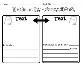 Text To Text Graphic Organizer Text To Text Connections