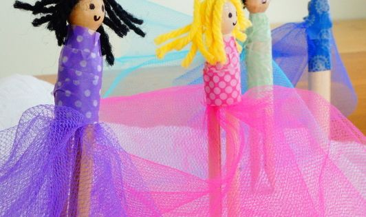 Clothespin Fairies {ultimate guide to clothespin crafts and ideas!} with a clothespin
