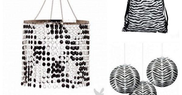 Zebra Print Decor bridal shower ideas