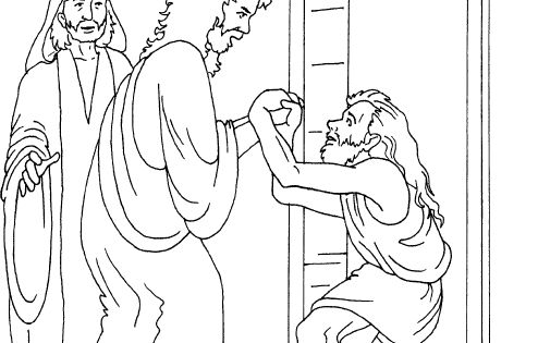 Peter and john lame man coloring page coloring pages for Peter and john heal the lame man coloring page