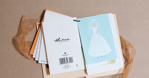 Make a book with all your wedding cards (or first birthday cards,