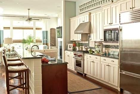 turquoise kitchen cabinets galley kitchen with island and one wall search 2968