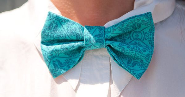 Tempting in Teal Unisex Bow Tie | Bow Tie Co. #bowtie