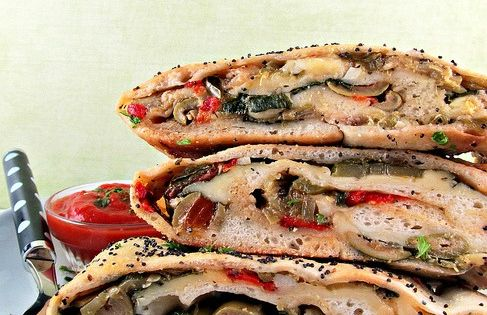 ... Veggie & Cheese Stromboli | Recipe | Stromboli, Vegetables and Veggies