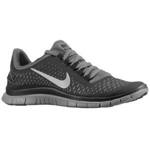 Nike Free Run 3 0 V4 Mens Running Shoes Dark Grey Reflect Silver Black Nike Free Shoes Running Shoes Nike Nike Shoes Women