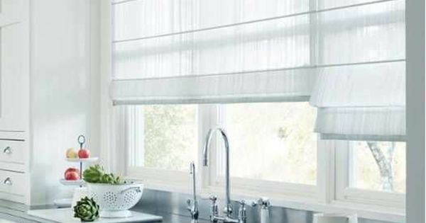 dekorative fenstergestaltung leicht gardinen rollos wei raffrollo pinterest gardinen. Black Bedroom Furniture Sets. Home Design Ideas