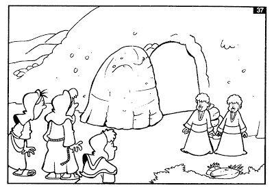 Historia Ilustrada Para Colorear Muerte Y Resurrección De Jesús Resurreccion De Jesus Semana Santa Niños Semana Santa