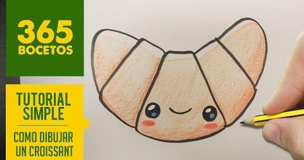 Como Dibujar Un Croissant Kawaii Paso A Paso Dibujos Kawaii