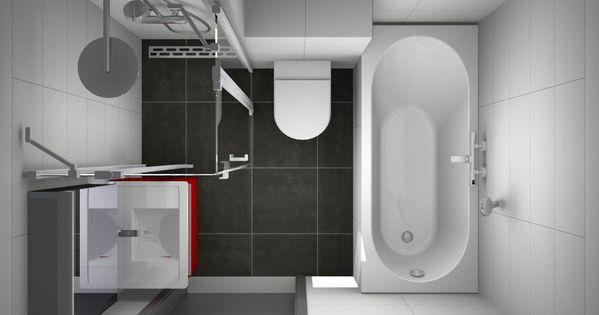 Betaalbare en zeer complete kleine badkamer met ligbad douche toilet en wastafel - Klein badkamer model ...
