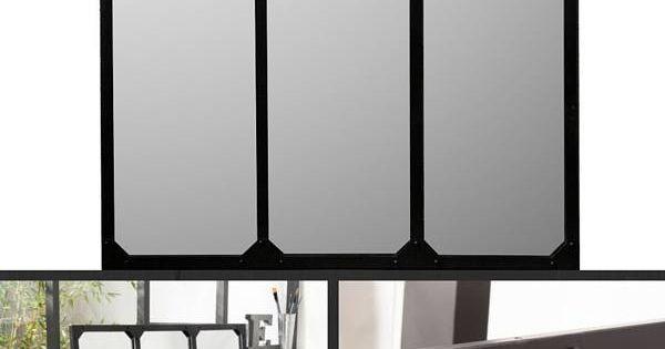 12 magnifiques miroirs industriels d couvrir miroir industriel grands miroirs et verri re. Black Bedroom Furniture Sets. Home Design Ideas