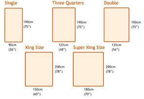 queen size bed mattress dimensions in cm | Queen Size Bed & King
