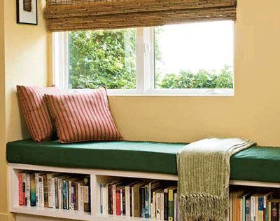 Window bench / reading nook. A simpler book nook