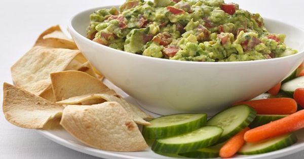 Healthified garlic guacamole. use corn tortillas instead.