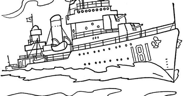 Navy ship coloring pages ~ Navy Ship Coloring Page | U.S. Navy | Pinterest | Navy ...