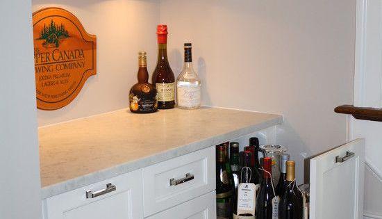 Wet Bars Wet Bar Liquor Drawer For The Home 1