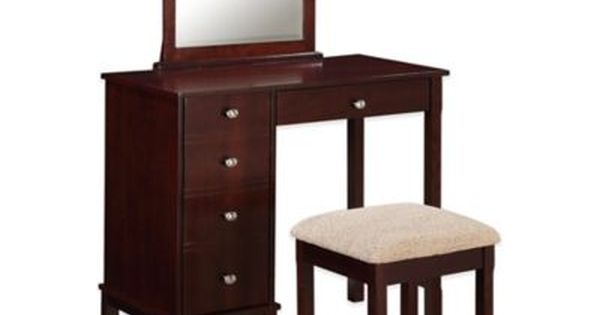 Buy Linon Home Julia Vanity Set In Walnut From Bed Bath Beyond