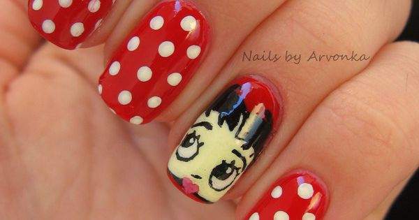 Image result for betty boop nail art