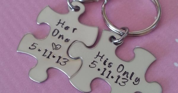 3 piece wedding ring for her | His and Her Puzzle Piece