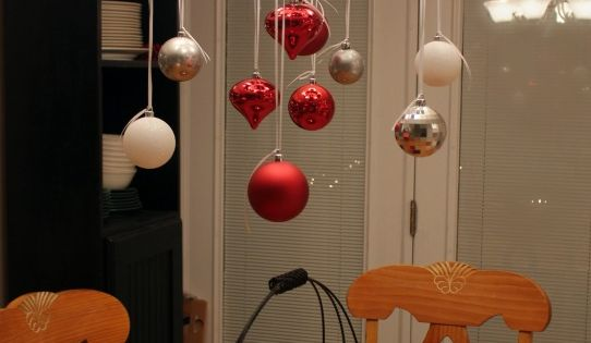 Over the kitchen table - Christmas idea!