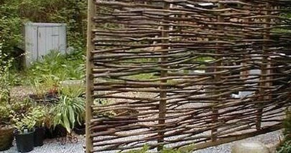 Wattle Fencing Was First Made In England. It Used To Be