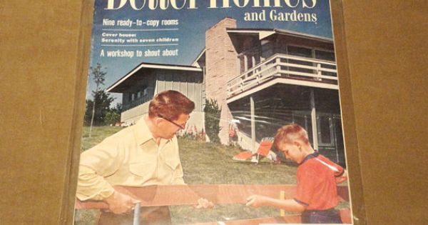 Complete magazine march 1955 better homes and gardens vintage architectural design fashion Better homes and gardens march