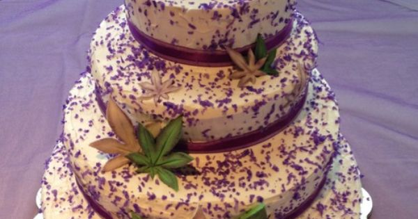 Cannabis Business Owners Wedding Cake