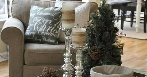 Cozy Family Room for Christmas  Cottage Living, Cottages and Tans