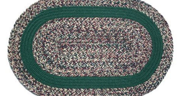 Oval Braided Rug 2 X3 Oatmeal Tweed Dark Green Band By Stroud Braided Rugs 59 00 Stain Resistant And Machine Washa With Images Oval Braided Rugs Braided Rugs Rugs