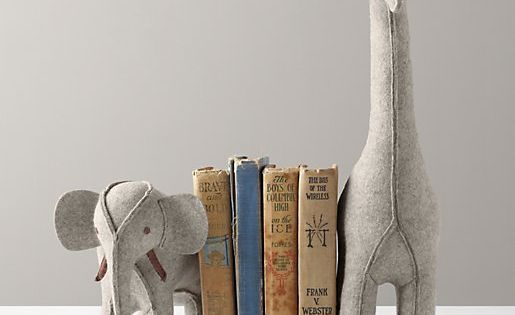 Wool Felt Animal Bookend - expensive so maybe a DIY with cheap