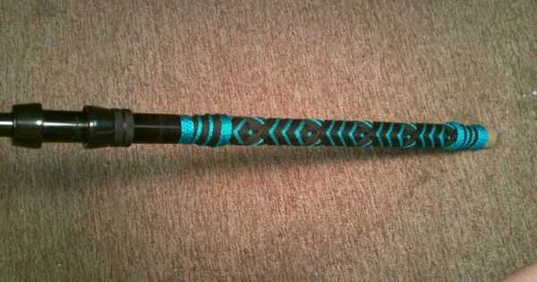 Custom Black And Teal Cord Handle On Shark Rod By Palmetto