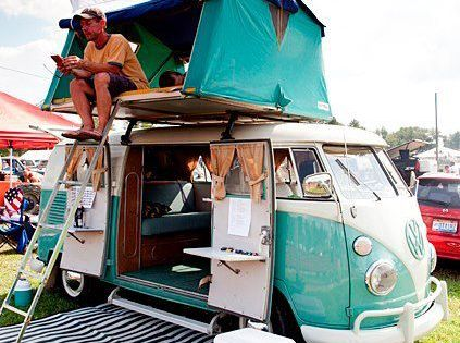 Roof Top Tent on VW Camper Bus