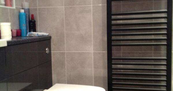 Black 400mm Towel Radiator: Tony King's Black Heated Towel Rail (1200x500) From Trade