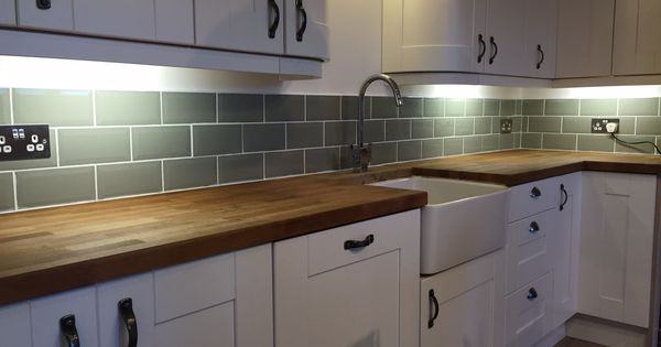 Our Kitchen Fitted Ourselves Tiled Ourselves Sage Metro