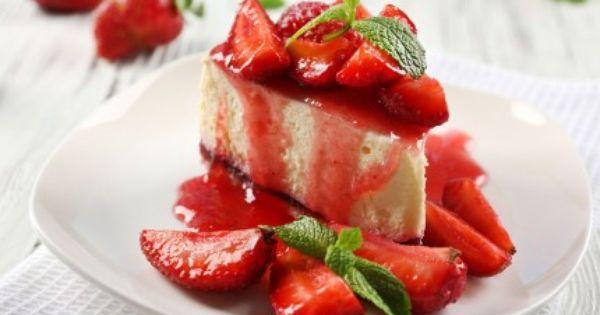 تشيز كيك بالفراولة الطازجة Recipe Food Recipes Desserts