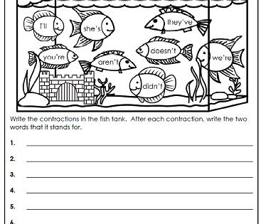 Contractions Activities With Images Contraction Worksheet
