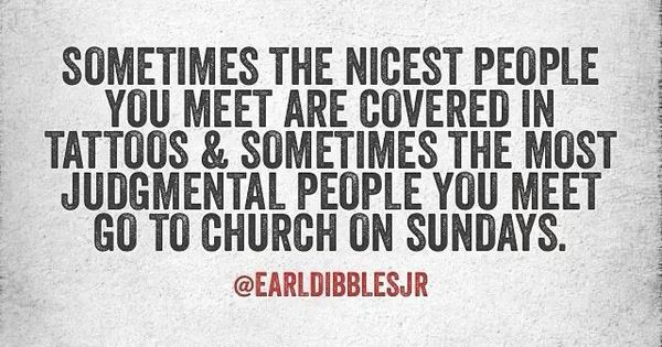 Just Because You Go To Church Doesn't Make You A Good