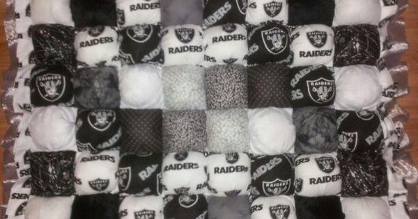 Custom Oakland Raider Baby Bubble Quilt Gordonquilts Etsy