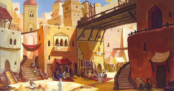 Aladdin theatre backgrounds by tim oshida at for Aladdin indian cuisine