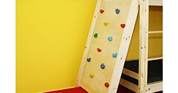 homestyle4u kletterwand mit fallschutz f r etagenbett hochbett kinderbett spielbett. Black Bedroom Furniture Sets. Home Design Ideas
