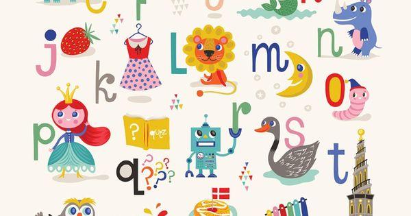 Køb By MIMI'S CIRCUS: Mimi's ABC plakat By Helen Dardik (50 x 70 cm) her - Mimi´s Circus | Min ...