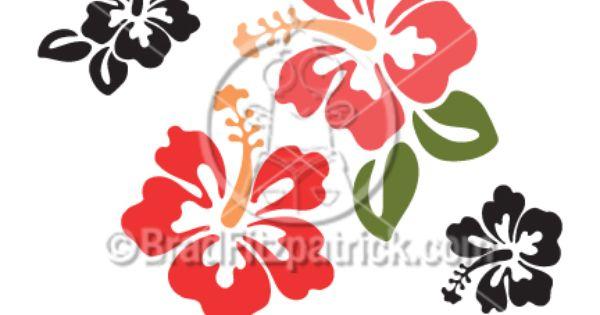 Cartoon Hibiscus Clip Art Hibiscus Graphics Clipart Hibiscus Hibiscus Clip Art Hibiscus Drawing Flower Drawing