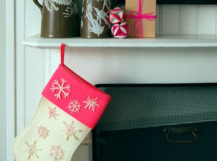 Christmas stocking template Super Easy Snowflake Stocking - The Purl Bee -