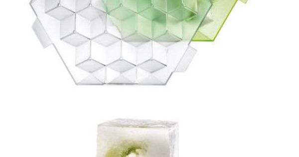 Perfectly square ice cube tray. Add fruits or herbs for flavoured cubes.