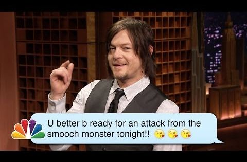 ▶ Norman Reedus (Daryl from The Walking Dead) Reads Romantic Texts ­Messages